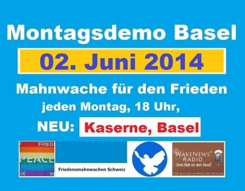 Montagsdemo Logo Schweiz Basel 20140602