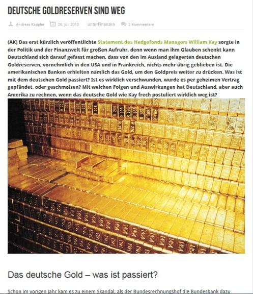 Deutsche Goldreserven sind weg