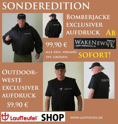 Bomberjacken und Outdoor-Westen Wake News TV